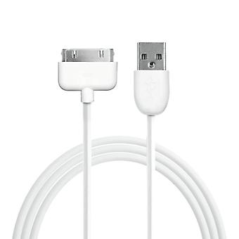 Cable de 30 pines datos Apple Ipod/iPhone/iPad blanco 1 m