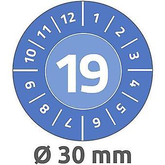 Prueba de la etiqueta azul 2019 19 autoadhesiva película (Ø x L)