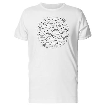Circular  With Sea Animals Tee Men's -Image by Shutterstock
