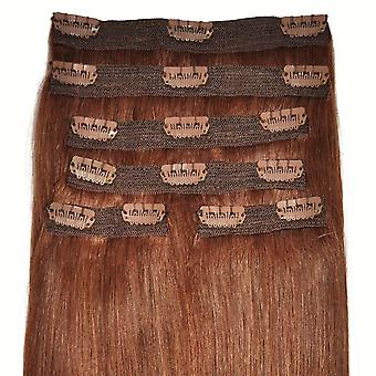 #33 Auburn - Clip-in Hair Extensions - Full Head - Deluxe