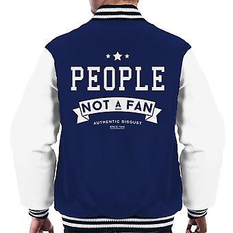 People Not A Fan Slogan Men's Varsity Jacket