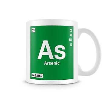 Scientific Printed Mug Featuring Element Symbol 033 As - Arsenic