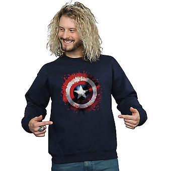 Marvel Men's Avengers Captain America Art Shield Sweatshirt
