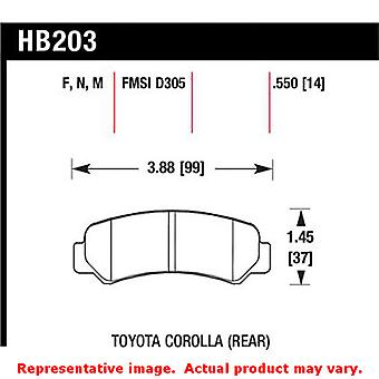 Hawk 'Performance Street' Brake Pads HB203N.550 Fits:TOYOTA 1985 - 1985 COROLLA