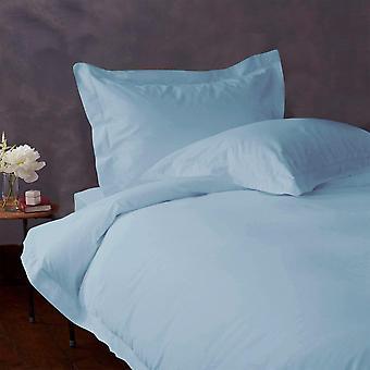(1000 tc)-100% エジプト綿の羽毛布団カバー セット ライトブルー