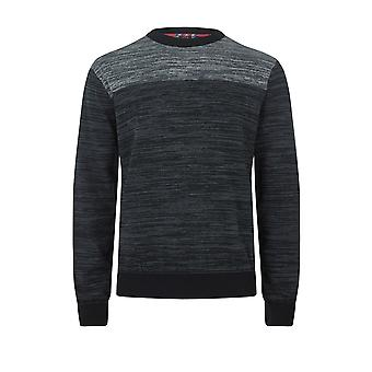 Merc SAVOY, men's cotton space dyed crewneck jumper with long sleeves