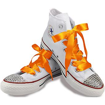 Tangerine Orange Satin Laces