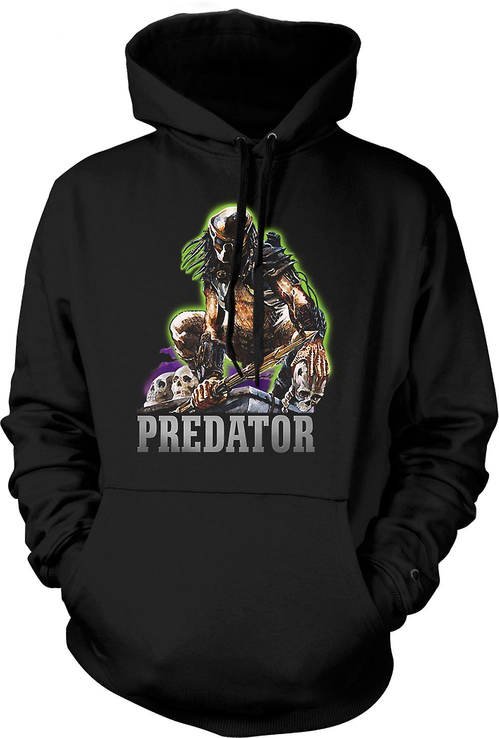 Mens Hoodie - Predator Hunter - klassisk film