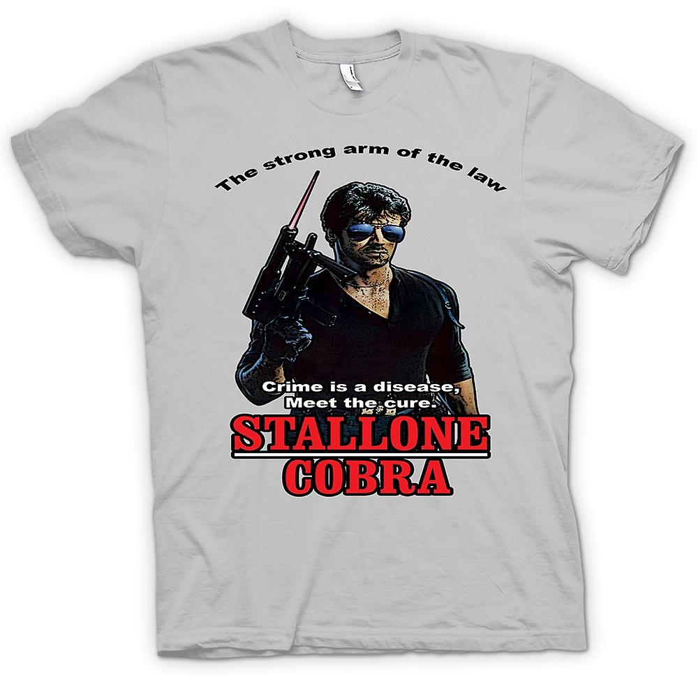 Mens T-shirt - Stallone - Cobra - Crime The Disease