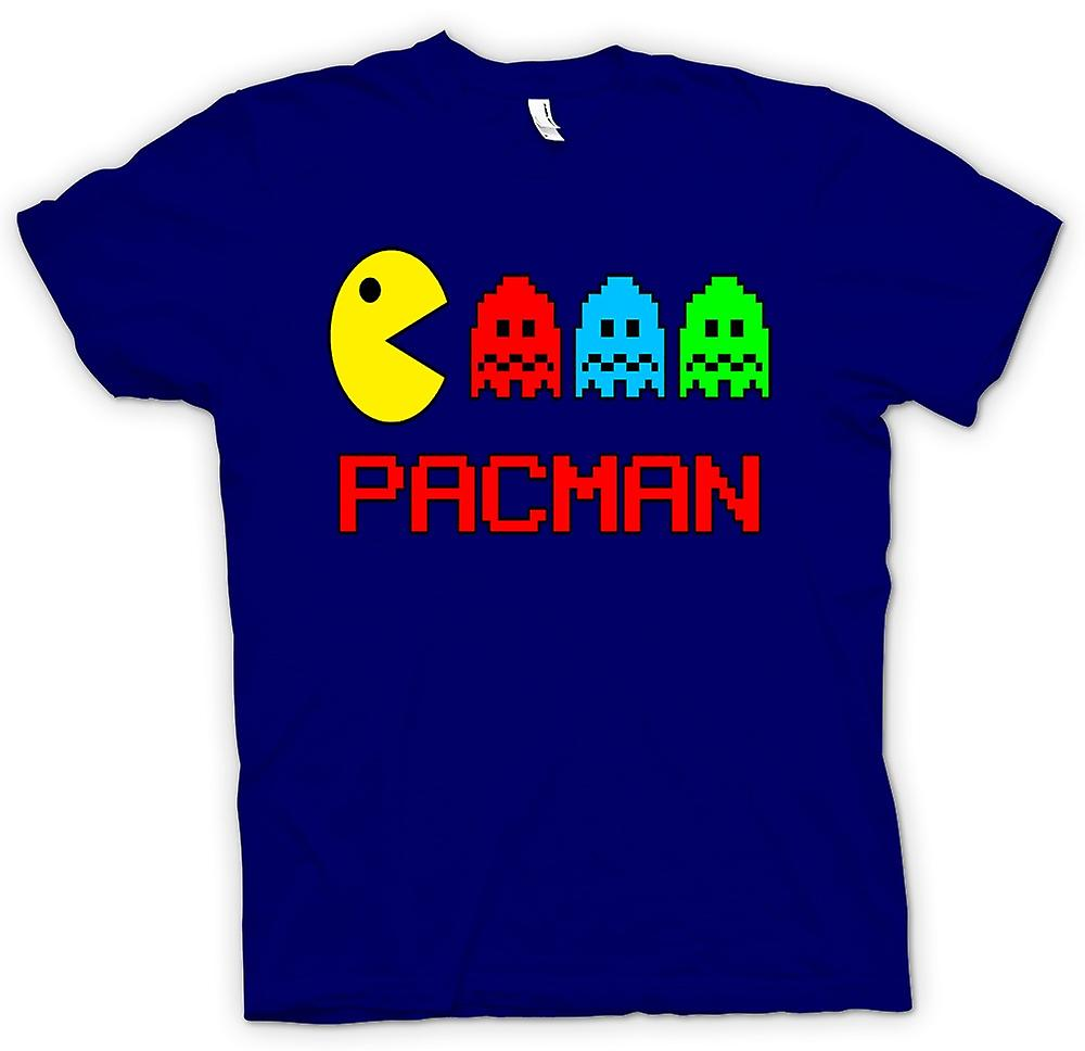 Mens T-shirt - Pacman - Retro - Old School Gamer