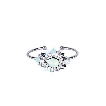 Lovemystyle Silver armband med turkos och Diamante blomma