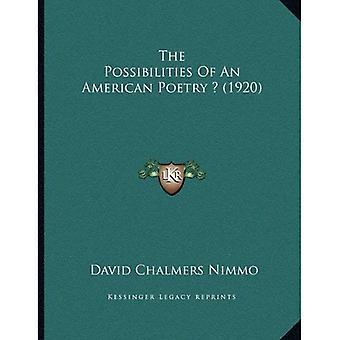 Mulighetene for en amerikansk poesi? (1920)