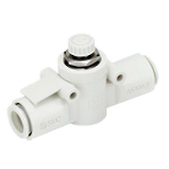 SMC As Series Speed Controller, 2Mm Tube Inlet Port X 2Mm Tube Outlet Port