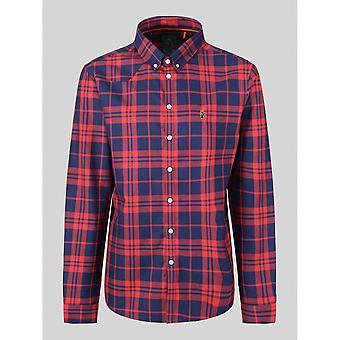 Luke 1977 Cuffys Call Navy/red Check Shirt