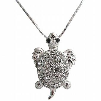 Dazzling Sparkling Cute Turtle Pendant Necklace Mother's Gift