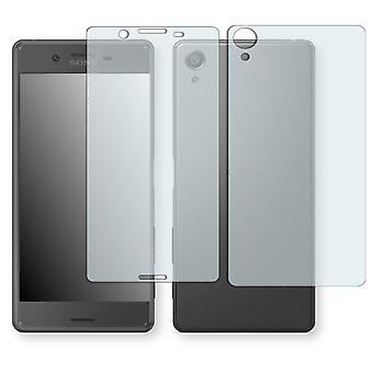 Sony Xperia X screen protector - Golebo crystal-clear protector (1 front / 1 rear) (miniature sheet)
