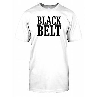 Bold Black Belt - Karate Master Mens T Shirt
