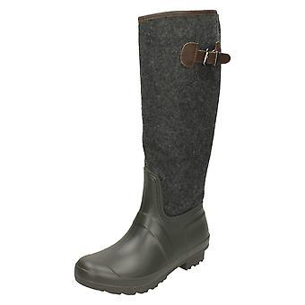 Ladies Spot On Wellington Styled Boots X1153