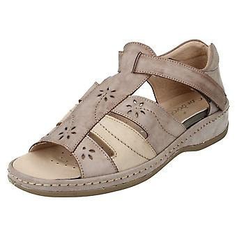 Ladies Sandpiper Sandals Carly Bark Size UK 4