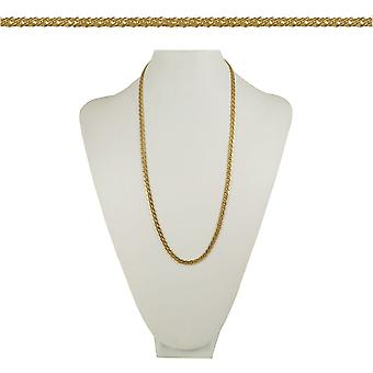 Eternal Collection Classique Chevron Link 26 Inch Gold Tone Necklace