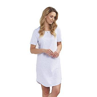 Rosch 1193145-16386 Frauen neue Romantik Indigo Dots Blue Spotted Baumwolle Nachthemd