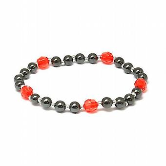 The Olivia Collection Hematite and Red 8