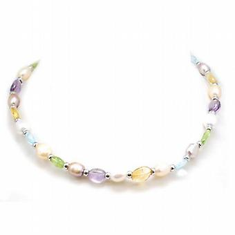 TOC White Bleached Baroque Freshwater Cultured Pearl 18 Inch Necklace