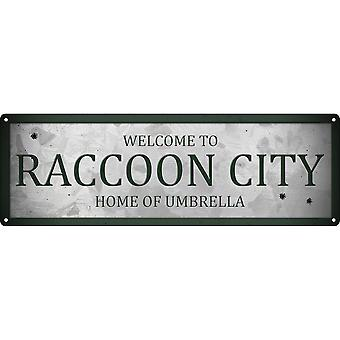 Grindstore Welcome To Raccoon City Slim Tin Sign
