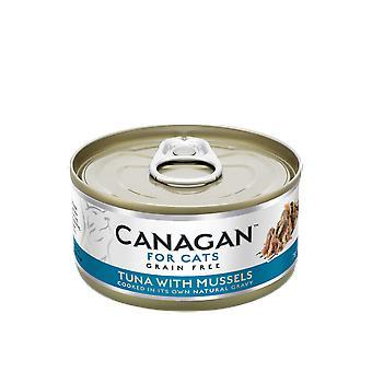 كانجان 75 ز التونة مع بلح البحر القط يمكن الغذاء الرطب--يمكن 75 ز