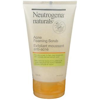 Neutrogena Naturals Acne Face Scrub, Foaming Facial Scrub with Salicylic Acid, 124 mL
