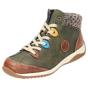 Rieker Lace Up Ankle Boots High Top Shoes L5222-24