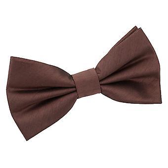 Chocolate Brown shantung pre-bundet bow tie