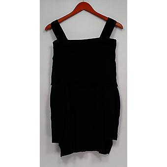 Isaac Mizrahi Live! Vrouwen ' s trui Convertible koude schouder zwart A295899