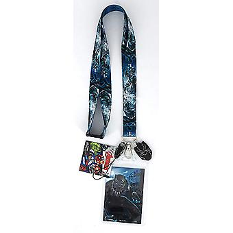 Lanyard - Marvel - Black Panther w/Soft Touch Dangle New 68947