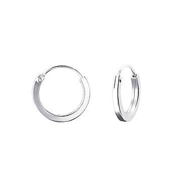Round - 925 Sterling Silver Ear Hoops - W22687X