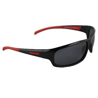 Sonnenbrille Sport Rechteck polarisierend Glas rot schwarz FREE BrillenkokerS329_1