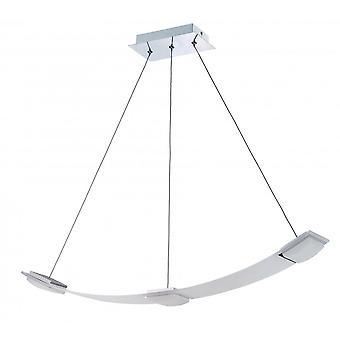 Mantra Thea Pendant 3 Light 21W LED 3000K, 1890lm, Satin Aluminium/Frosted Acrylic, 3yrs Warranty