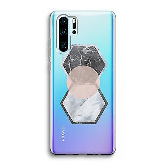 Huawei p30 pro caso transparente (Soft)-toque criativo