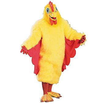 Chicken Chick Hen Rooster Deluxe Plush Animal Farm Dress Up Adult Mens Costume