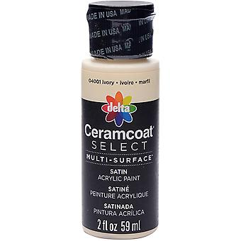 Ceramcoat Select Multi-Surface Paint 2oz-Ivory 4000-04001
