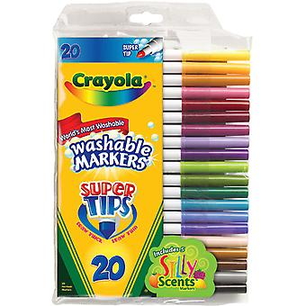 Crayola Super Tip Washable Markers 20 Pkg 58 8106
