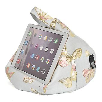 iBeani iPad, Tablet & eReader Bean Bag Stand / Cushion - Butterfly Blue
