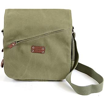 Genuine Canvas Shoulder / Cross Body / Work Bag ( Olive Green )