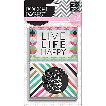 Me & My Big Ideas Pocket Pages Themed Cards 72/Pkg-Peony Love TPC-36