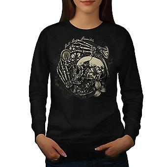 Hell Hope Horrible Dead Skull Women Black Sweatshirt | Wellcoda