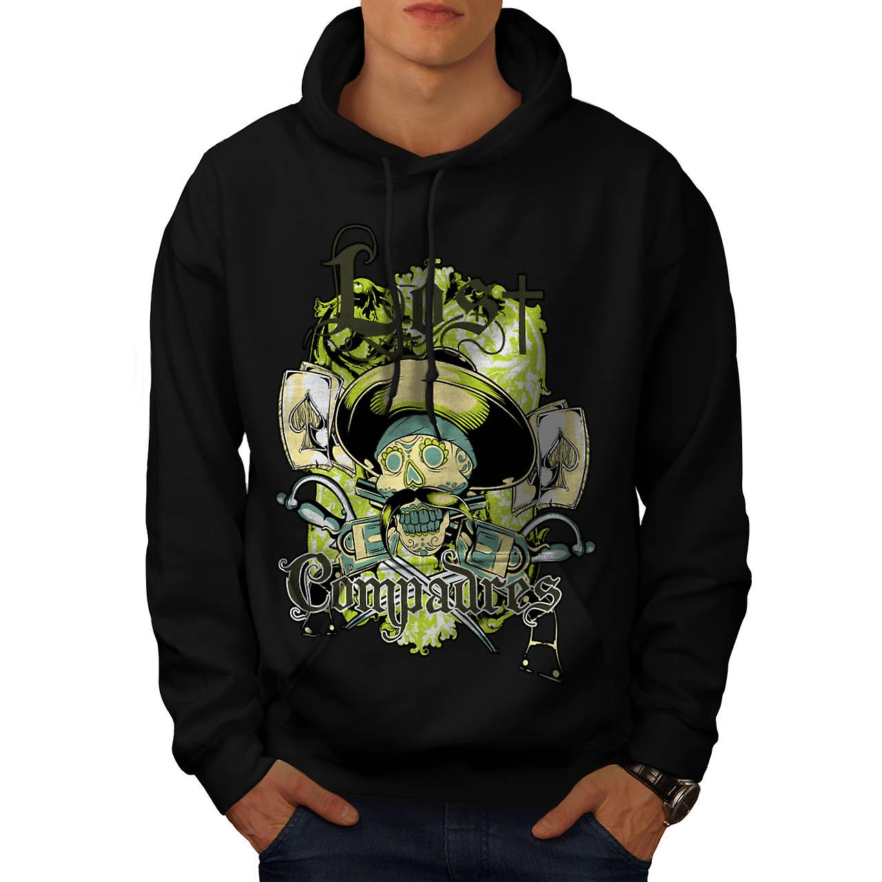 Lost Compadres Team Mexico Man Men Black Hoodie | Wellcoda