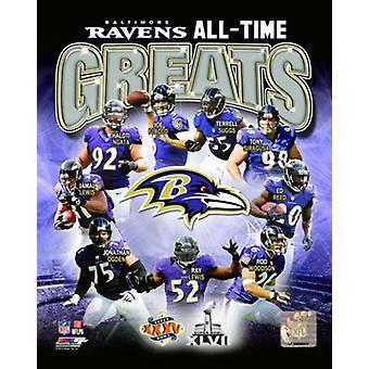 Baltimore Ravens alle Zeit Greats zusammengesetzte Sport-Bild
