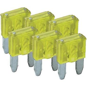 Mini blade-type fuse, 6-pack 20 A Yellow FixPoint SORTIMENT 1027-20A KFZ