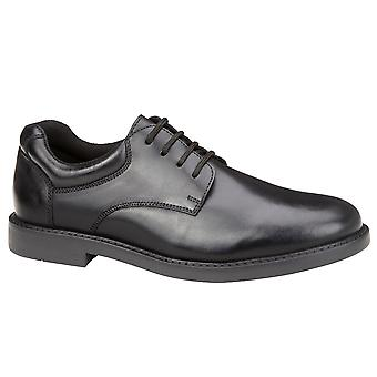 Hush Puppies Boys Tim School Shoes Black F Fitting