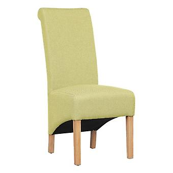 Dora Oak And Herringbone Solid Designed Chair - Color Selection - Fully Assembled